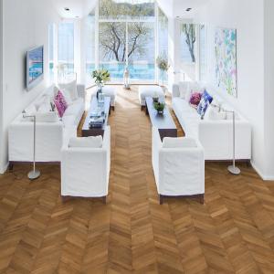 KAHRS Chevron Swedish Engineered wood Flooring  Oak Light Brown Oiled  305mm