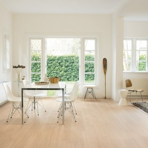 QUICK STEP LAMINATE PERSPECTIVE WIDE  COLLECTION OAK WHITE OILED FLOORING 9.5mm
