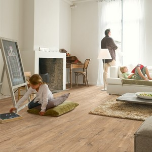 QUICK STEP LAMINATE ELIGNA WIDE  COLLECTION OAK WITH SAW CUTS NATURE FLOORING 8mm