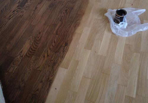 Floor staining
